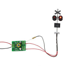 1set HO Scale Railroad Crossing Signals 4 heads LED made + Circuit board flasher $12.99