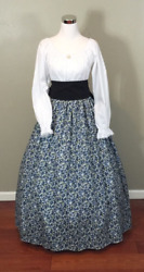 Blue Civil War Victorian Renaissance Southern Belle Colonial Dress Gown Costume $49.95