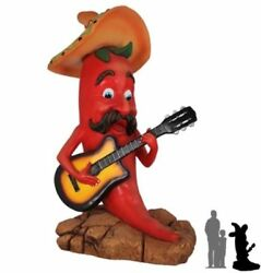 Singing Chili Cartoon Life Size Statue Movie Figurine Western Theme Decor Props