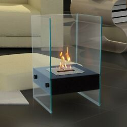 Anywhere Fireplace Hudson IndoorOutdoor Modern Glass Fireplace. Bio Ethanol.