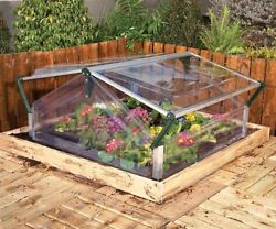 Mini Greenhouse Cold Frame Raised Garden Bed Plants Cover Portable Weatherproof