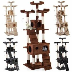 67quot; Cat Tree Condo Tower Pet Kitty Play Climbing Furniture w Scratching Post $63.99