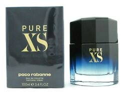 PURE XS by Paco Rabanne Cologne 3.4 oz. EDT Spray for Men Brand New Sealed Box $42.99