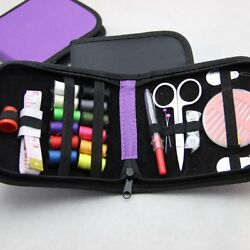 Mini Beginner Sewing Kit Case Set Adults Kids Home Travel Campers Supplies $7.00