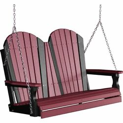 LuxCraft 4 Foot Outdoor Adirondack Poly Wood Porch Swing