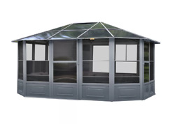 Outdoor Log Cabin Home Kit Metal Permanent Gazebo Garden Shed Summerhouse Room