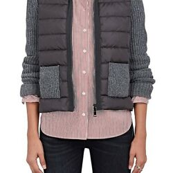 MONCLER WOMENS DOWN-QUILTED & WOOL-CASHMERE SWEATER