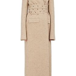 THE ROW WOMENS PESNER WOOL-CASHMERE LONG COAT