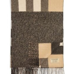 BURBERRY WOMENS DOUBLE-FACED CHECK CASHMERE SCARF
