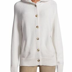 THE ROW WOMENS RUNI CASHMERE HOODED CARDIGAN