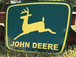 Antique Vintage Old Style John Deere Sign $70.00