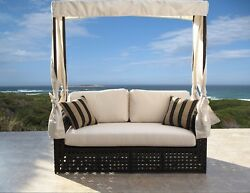 Sanda Contract Quality Outdoor Resin Wicker Single Daybed Fully Assembled