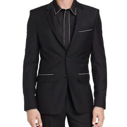 GIVENCHY MENS CHAIN-TRIM TWO-BUTTON SPORT JACKET