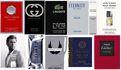 Lot of 12 Men`s Cologne Samples Burberry Gucci Versace Lacoste Paco Rabanne CK $24.95