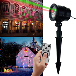 Christmas Laser Light TOFU Outdoor Star Show Motion LED Projector Light with IR