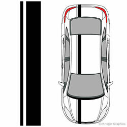 Single Offset Rally Racing Stripes 3M Vinyl Stripe Decals for Ford Focus $34.95