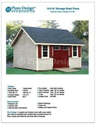 14' x 14' Reverse Gable Roof Style Shed Plans Design # D1414G Material List