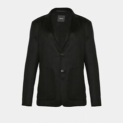 NEW THEORY MENS DOUBLE-FACED CASHMERE BLAZER - BLACK