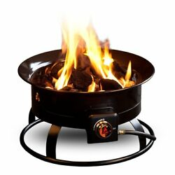 58000 BTU Firebowl Deluxe Portable Propane Gas Fire Pit wCover Carry Kit Campf
