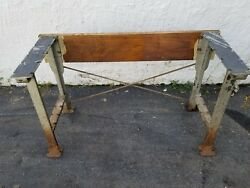 cast iron table legs bench vintage retro steampunk