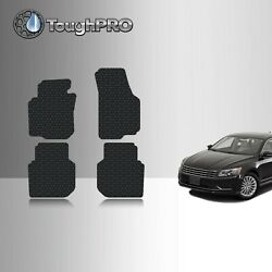 ToughPRO Floor Mats Black For Volkswagen Passat All Weather Custom Fit 2012 2018 $69.95