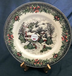 Royal Stafford Christmas Cottage Cabin Nordic Side Plate Set Of 4 England New