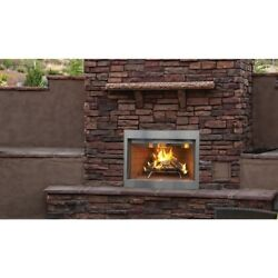 Outdoor Superior Wood Burning Fireplace 36inch Stainless Steel White Stack Brick