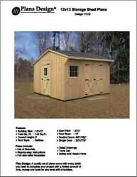 12' X 12' Saltbox Style Storage Shed Project Plans - Design # 71212