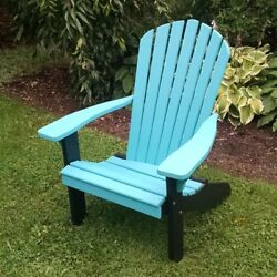 A & L Recycled Plastic Two-Tone Fanback Adirondack Chair
