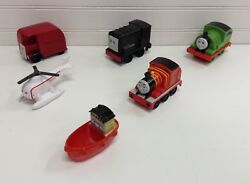 Thomas Train amp; Friends Plastic Toddler Trains Boat Helicopter Lot Set Of 6 $15.00