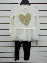 Toddler amp; Girls Flapdoodles 2pc Cream Sweater amp; Legging Set Size 2T 2 6X $9.88