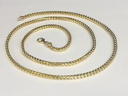 18KT Solid Gold Franco Curb Box Link 22 3.5 mm 57 grams PENDANT chain Necklace