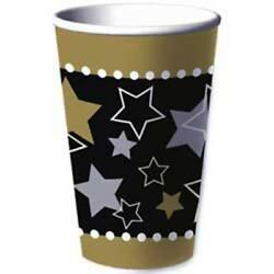 Hollywood Themed Party 16 oz Paper Beverage Cups 8 Per Package Party Supplies $2.89