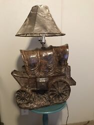 Western Vintage Covered Wagon Lamp- All offers considered!