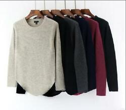 Fashionable woman 100% Merino sweater T-shirt pure wool knitted sweater sleeves