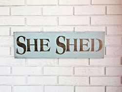 She Shed She Shed Sign Potting Shed Sign She Shed Door Sign Gift for Her