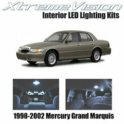 XtremeVision Interior LED for Mercury Grand Marquis 1998 2002 8 PCS Cool White $10.99