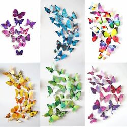 72 3D Wall Butterfly Art Sticker Wall Home Room Magnet Decal Decoration 6 Colors $7.99