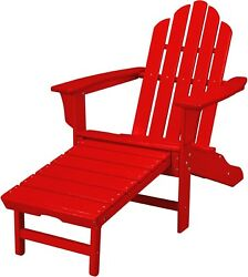 Hanover Outdoor HVLNA15SR Sunset Red All-weather Contoured Adirondack Chair