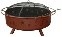 Landmann Super Sky Stars And Moon Fire Pit With Poker Spark Guard
