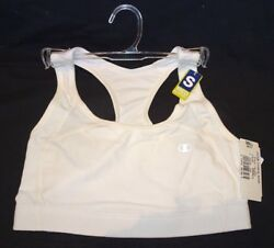 CHAMPION Sports Bra CH7904 Cotton Fitness Racer Medium Support White $19.99
