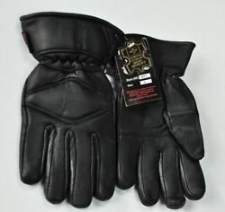 Men#x27;s Genuine Leather Warm Lined Driving Gloves Motorcycle Gloves $15.00