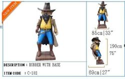 Robber Statue Prop Decor Western Figurine Saloon Wanted