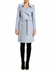 Badgley Mischka 63360 Womens Double Face Wool Wrap Trench Coat L