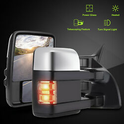 L+R For 99-07 Ford F250F350F450F550 Chrome Power+Heat+Signal Tow Side Mirrors $147.45