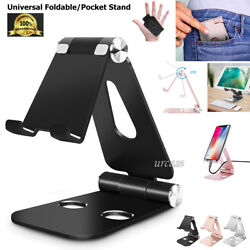 Universal Foldable Aluminum Desk Stand Adjustable Holder Fr iPhone Galaxy Tablet $12.83