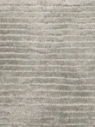 Hand Woven Knotted Soft Tencel Lyocell Silk Stain-proof Carpet Area Rug Silver