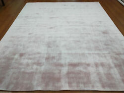 Handmade Woven Knotted Soft Tencel Lyocell Silk Stain-proof Carpet Area Rug Pink