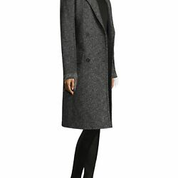 NEW HELMUT LANG WOMENS DOUBLEFACE DECONSTRUCTED WOOL COAT