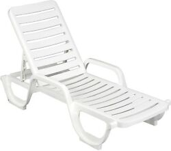 Adjustable Resin Chaise Lounge Chairs Set of 6 Pool Deck Stackable SHIPS FREE